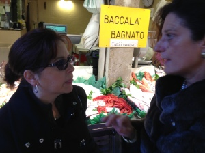 Discussing food (what else?) with Enrica Rocca