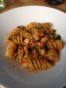 Pasta with Gamberi Rosso