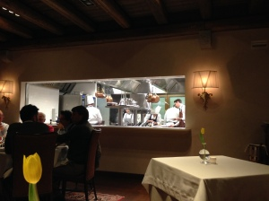 Open kitchen at Orsone.