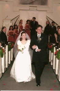 Our wedding day at All Souls Church in NYC