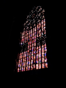 Stained glass window in the Duomo di Milano