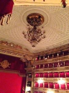 Gorgeous chandelier in La Scala