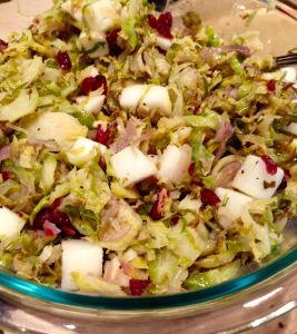 Brussels Sprout, Shallot, Apple and Cranberry