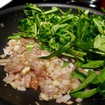 Dandelion, shallot and garlic