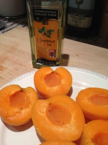 Grilling apricots