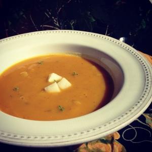 kabocha squash and pear soup
