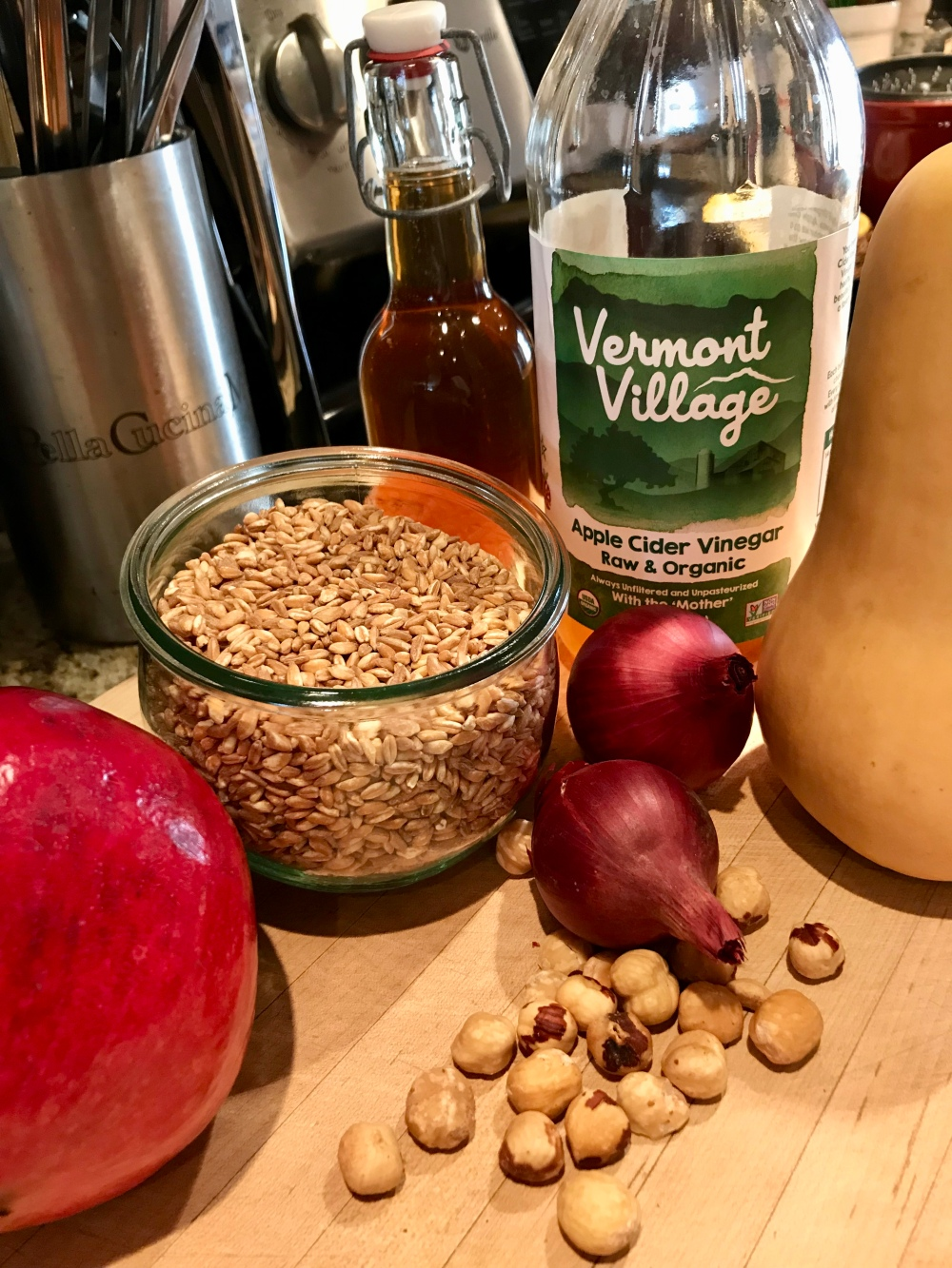 This Year I Came Up With Something New Using Farro And Butternut Squash The Twist Here Is Cooking Your Farro In Apple Cider Vinegar